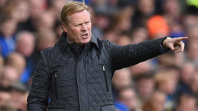 Everton has sacked Ronald Koeman after a 5-2 loss to Arsenal. Picture: AFP