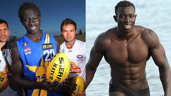 The AFL's first Sudanese player Majak Daw was always big, but not that big.
