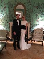 "Ivanka Trump and Jared Kushner at a candlelight dinner on January 19, 2017, ""Tomorrow will be an incredible day. Goodnight everyone! #Inauguration #MAGA"" Picture: @ivankatrump/Instagram"