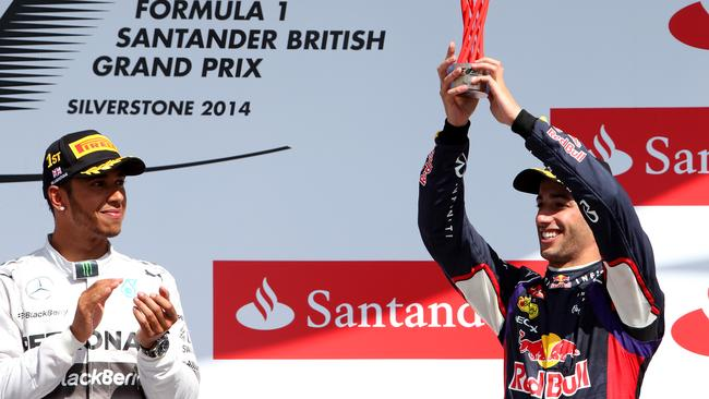 Ricciardo fought his way to the podium at Silverstone.