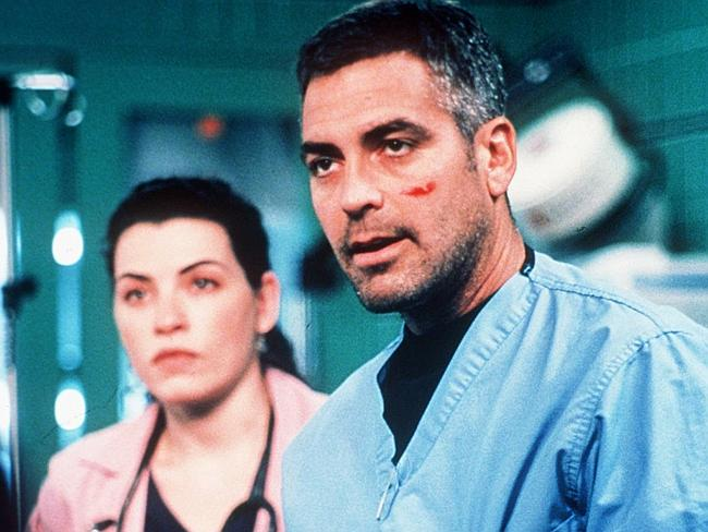 """Julianna Margulies with George Clooney in """"ER""""."""