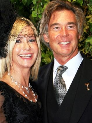 Olivia Newton-John and her husband John Easterling in 2009. Picture: Supplied