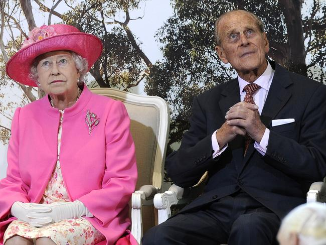 A privilege ... Britain's Queen Elizabeth II, left, and her husband Prince Philip. Picture: AP