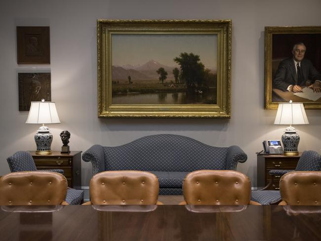 The Roosevelt Room was spruced up. Picture: AP Photo/Carolyn Kaster