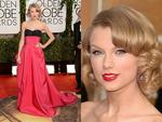 Golden Globes 2014 red carpet arrivals at the Beverly Hilton: Taylor Swift. Picture: Getty