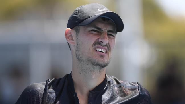 Bernard Tomic after missing out on Australian Open qualifying.