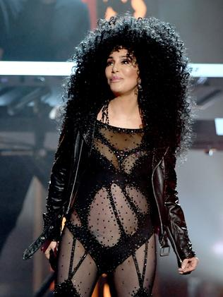 Cher in the V-dress last year. Yes 2017. Pic: Ethan Miller/AFP