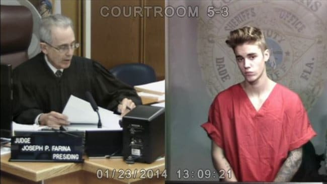 Justin Bieber court appearance