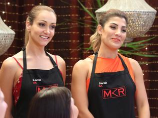 EMBARGOED TILL 9PM FEB 27 Lama & Sarah instant restaurant on MKR. Picture: Channel 7