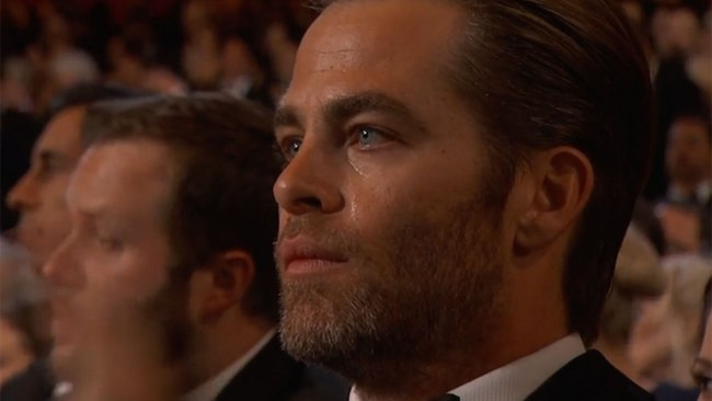 Has a tear ever been so beautiful? Photo: The Oscars