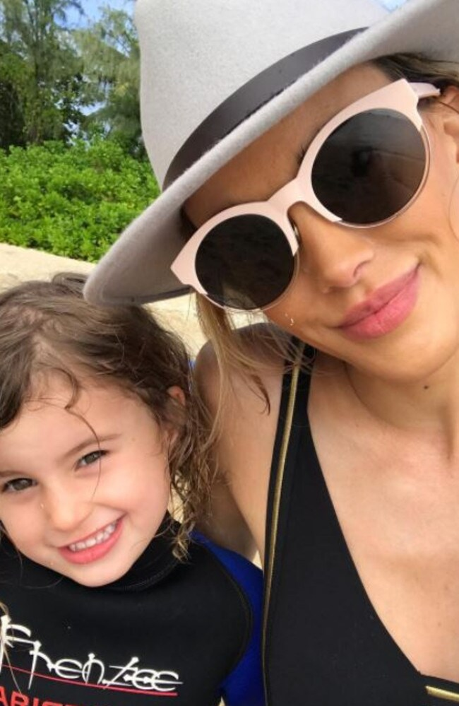 Bec Judd and her daughter, Billie.