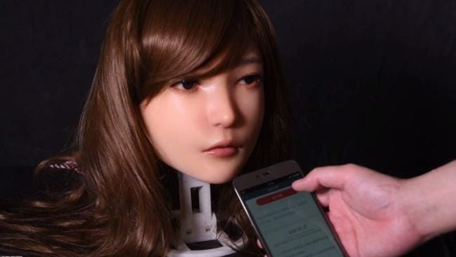 DS Dolls have completed a prototype of a robotic sex doll capable of facial expressions. Picture: DSDoll.com