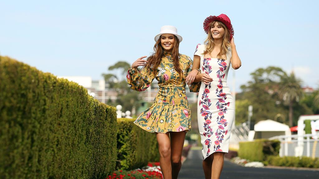 Holly Arabella and Jade Burton get the feel of Randwick while the wide open spaces remained yesterday.
