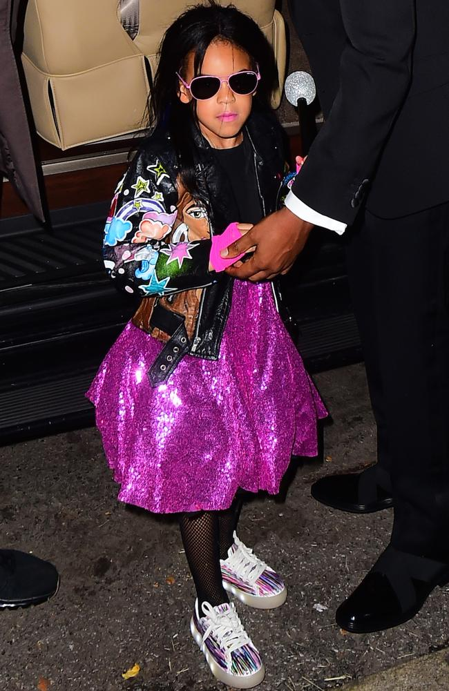 Blue Ivy is a major player when it comes to kids' fashion (not that she knows it). Picture: Splash