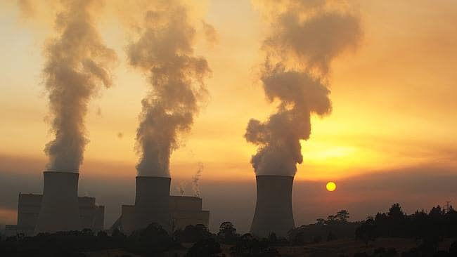 A smokey sunrise this morning at the Yallourn Power Station. Picture: Ellen Smith