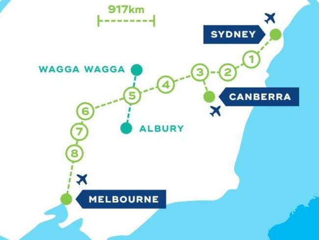 New plan unveiled for interstate fast rail network  Herald Sun