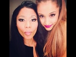 Behind The Scenes 2014 MTV VMAs... Singers Nicki Minaj and Ariana Grande. Picture: Instagram
