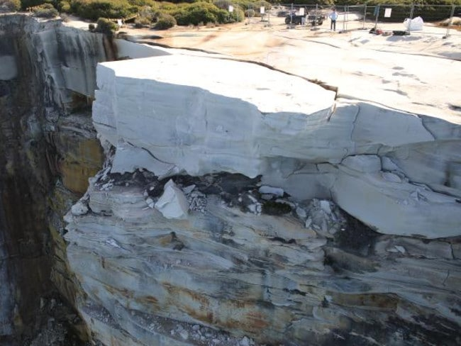 A survey of Wedding Cake Rock revealed the formation is likely to collapse within a decade. Picture: Supplied.