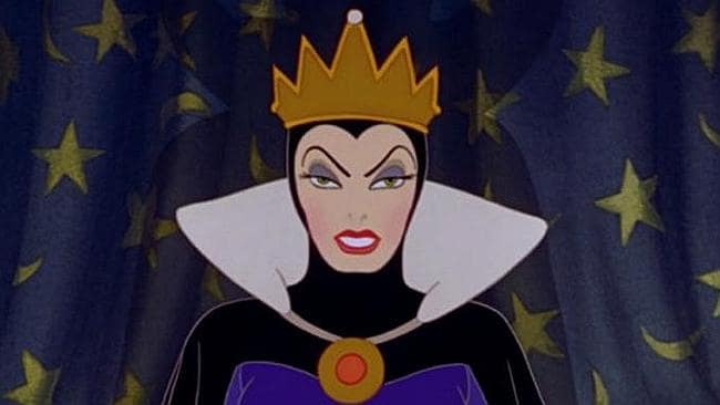 "The evil queen from ""Snow White""."