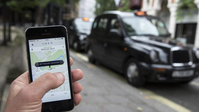 Uber allows users to hail private cars from anywhere. Pic: Oli Scarff.
