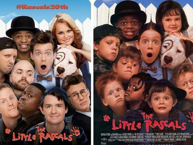 Flashback ... the child star cast of beloved movie 'The Little Rascals' has reunited for the film's 20th anniversary celebration. Picture: 22 Vision