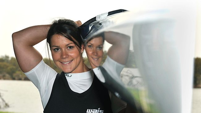 Kayaker Alana Nicholls is one of Australia's best prospects of gold in London. Picture: Alf Sorbello
