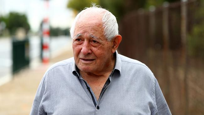 Jim Leppa, 83, talking out the front of the Older Persons Mental health facility in Oakden where his wife resides. Picture: Simon Cross