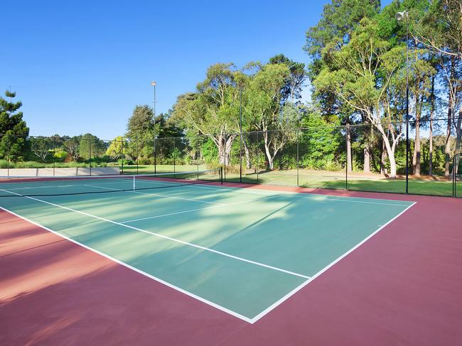 The championship-sized tennis court is just one of two on offer. Picture: McGrath Terrigal