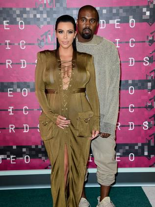 'Best friends' ... West with wife, Kim Kardashian. Picture: Frazer Harrison/Getty Images