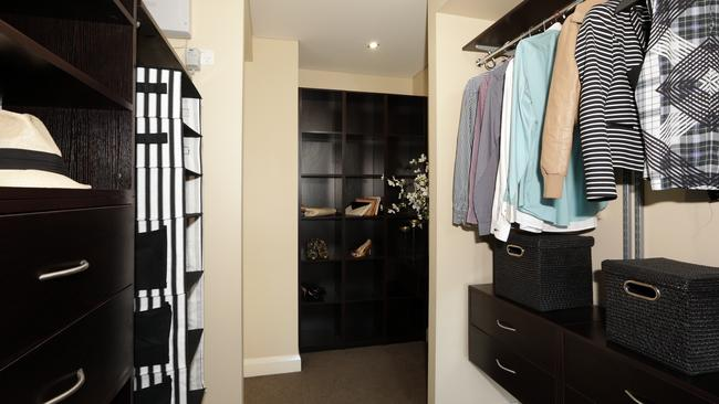 The walk-in wardrobe is part of the master bedroom.