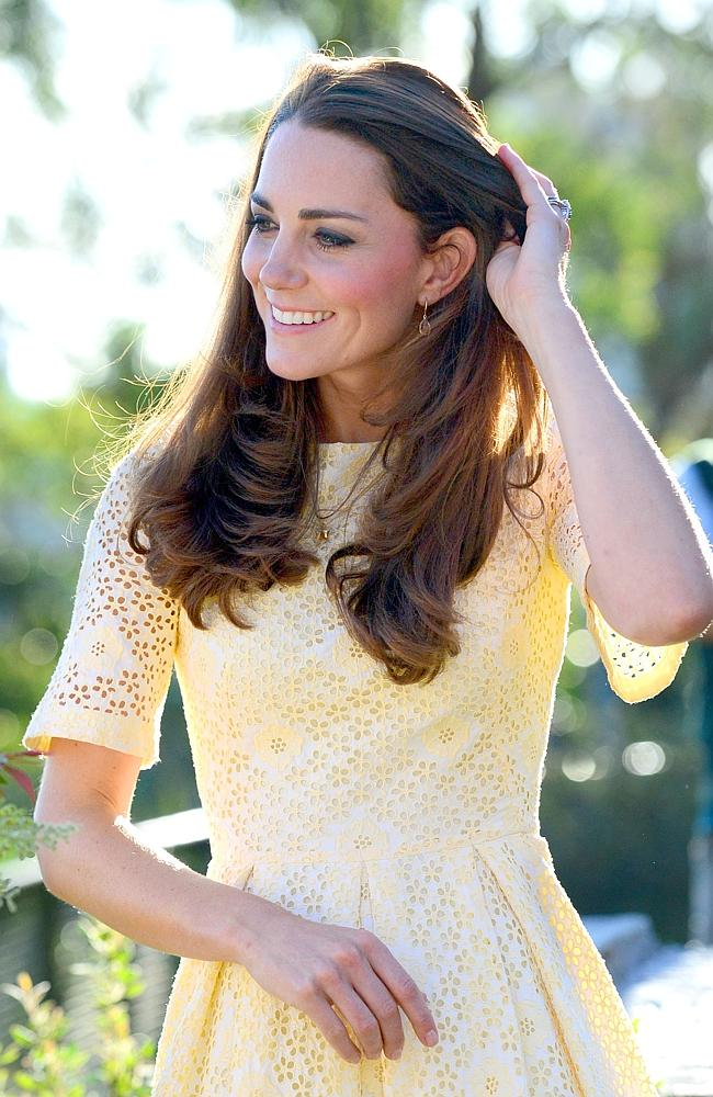 So pretty ... Duchess Kate enjoying an afternoon at Taronga Zoo in Sydney. Picture: Jeremy Piper