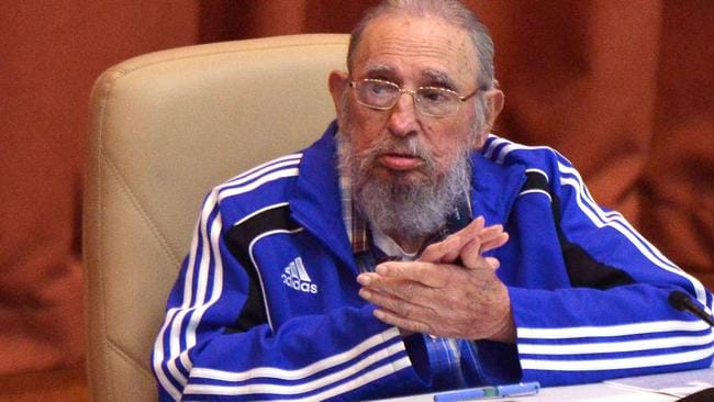 Castro pictured during a Cuban Communist Party Congress meeting in Havana on April 19, 2016. Picture: AFP/ACN/Omara Garcia Mederos