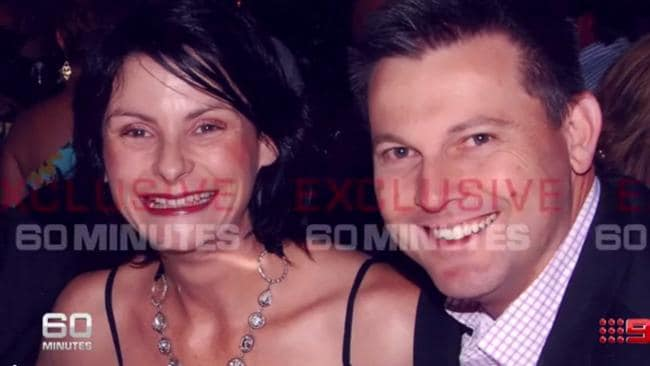 60 Minutes screengrab of Gerard Baden-Clay with his mistress Toni McHugh.
