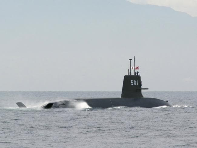 Challenging .. the Japanese Soryu class submarine. Picture: Supplied