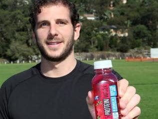 Bodie Lazar, the creator and founder of Australian-made BODIE'z Protein Water. Picture: Supplied