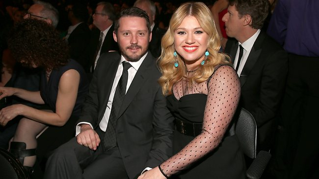 Kelly Clarkson and Brandon Blackstock in the audience.