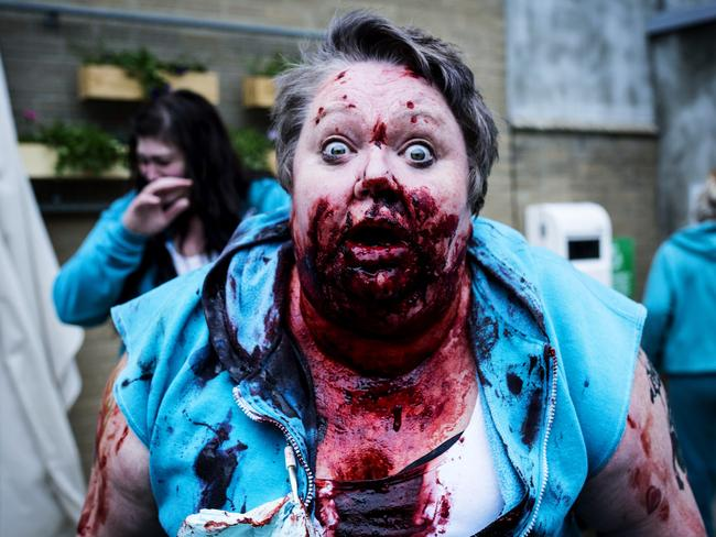 Sally-Anne Upton as 'Juicy' Lucy Gambaro was the victim of the most gruesome moment in the history of Wentworth.