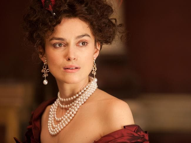Drama ... Knightly in  <i>Anna Karenina</i>. The British star said she's in a much better place to deal with fame now that she's approaching 30.