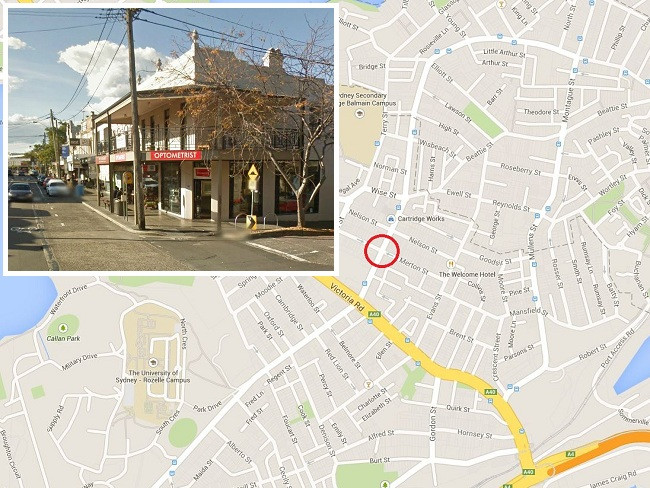 The site of the explosion and (inset) the business before it went up in flames. Picture: Google
