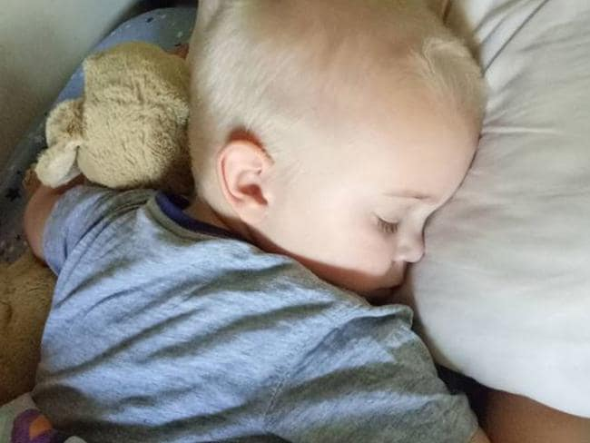 Fiona and Matt's four-year-old son sleeps with a weighted blanket so he doesn't move around too much at night.