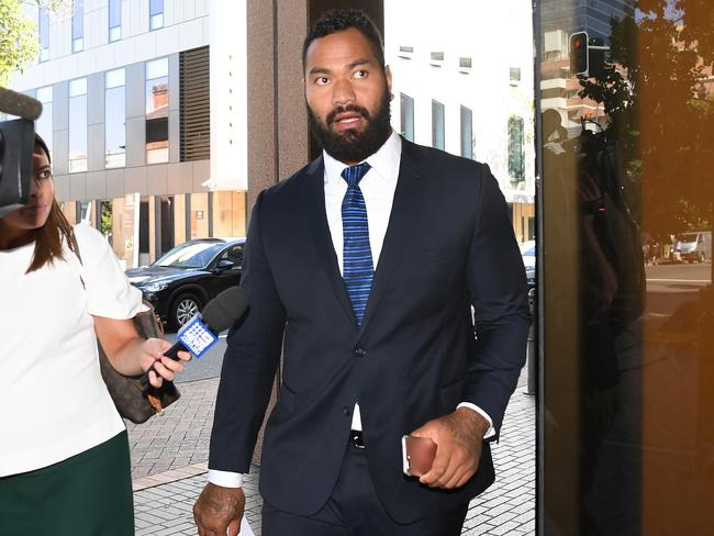 Tony Williams leaves Parramatta Court after being fined $1000 and having his license disqualified for 12 months. Picture: David Moir