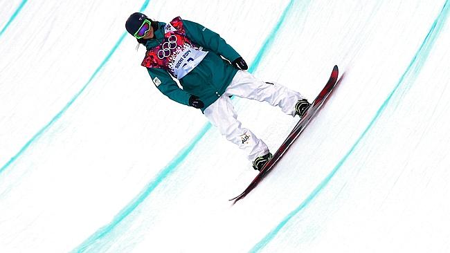 Australian Scotty James competes in the Snowboard Men's Halfpipe Qualification Heats on day four of the Sochi 2014 Winter Olympics.