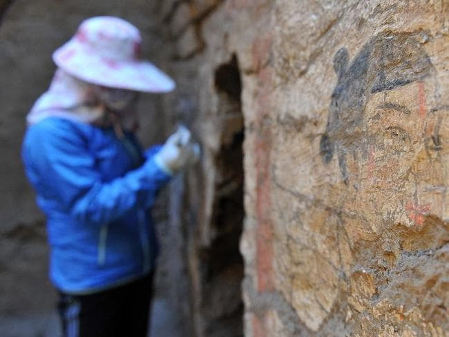 "Traces of the past ... Excavations at this tomb near Guyuan City may cast new light on the ancient ""Silk Road"" trade route between China and the West. Source: Xinhuanet"