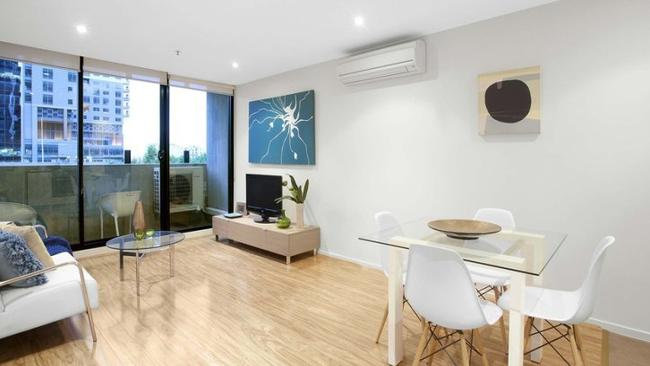 AN apartment at Little Lonsdale St, Melbourne is listed for $500,000-$550,000 Picture: realestate.com.au