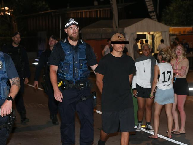 Schoolies arrested on the Gold Coast. Photo: Mike Batterham
