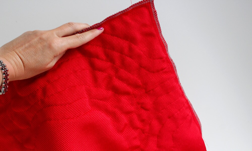 sewing a ruffle cushion quickly