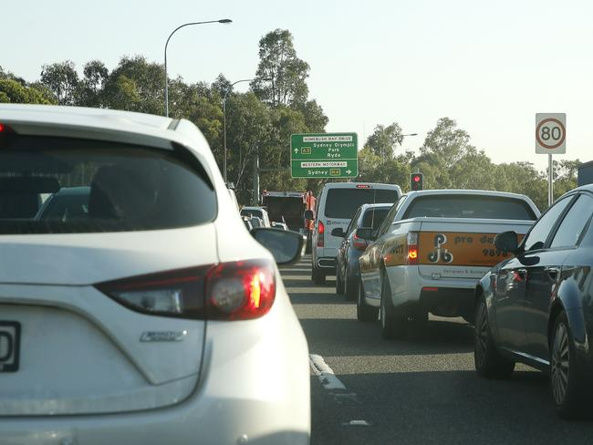 Traffic on the widened M4 is down 25 per cent since the $4.56 toll was introduced.
