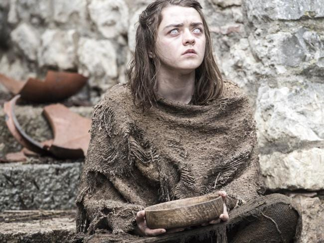 Arya, struggling to see the point of being blind. Picture: HBO