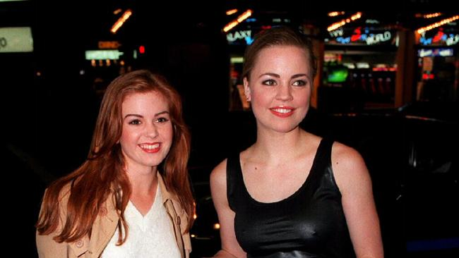Isla Fisher and Melissa George back in 1995. Picture: Nathan Edwards