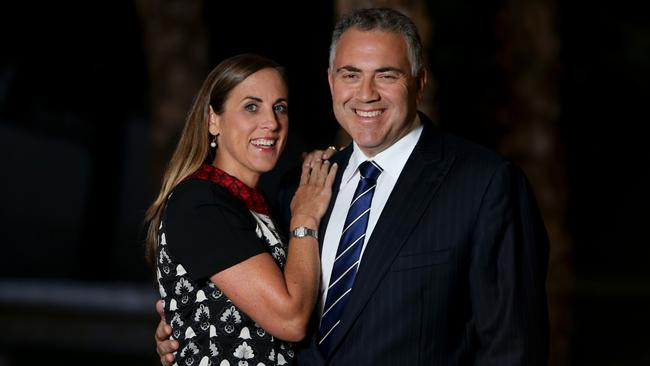 Treasurer Joe Hockey and his wife Melissa Babbage